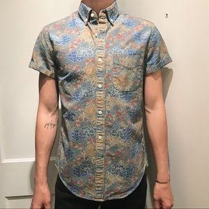 JCREW floral denim shirt